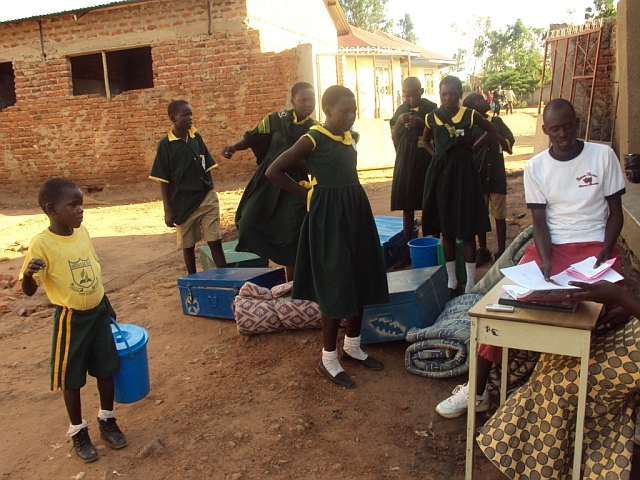 The Odwar Fund Kids being cleared at one of the schools.