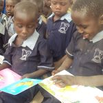 Children Enjoy reading story books at an ECDC
